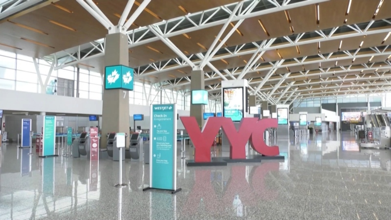 Calgary International Airport is limiting terminal access to staff and travellers only. (File photo)