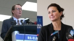 Michael Fougere and Sandra Masters are facing off in Regina's 2020 mayoral race. (Marc Smith/CTV News)