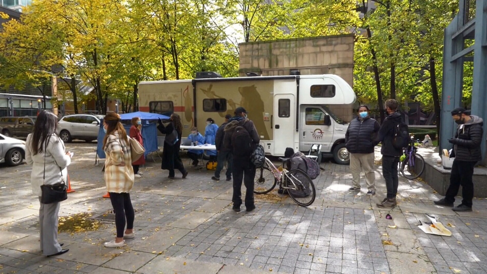 Anishnawbe Health Toronto's mobile unit is seen in this image.