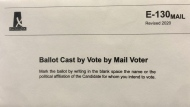 An Elections Saskatchewan mail-in ballot is seen in this file image. (Elections Saskatchewan)