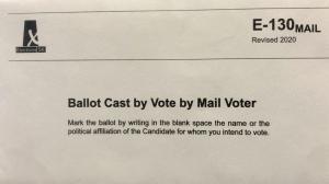 An Elections Saskatchewan mail-in ballot is seen in this file image. (Elections Saskatchewan)