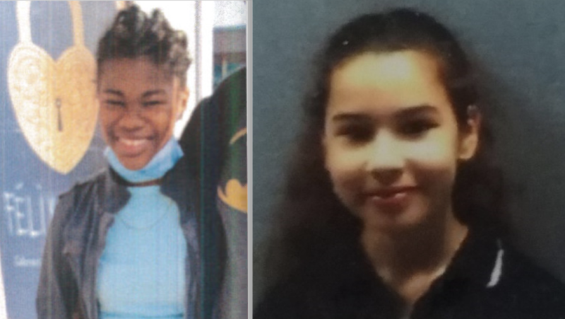 L'Orie Jeune, 11, left, and El Yasmine Hechachena, 12, right. (Photos: SPVM)
