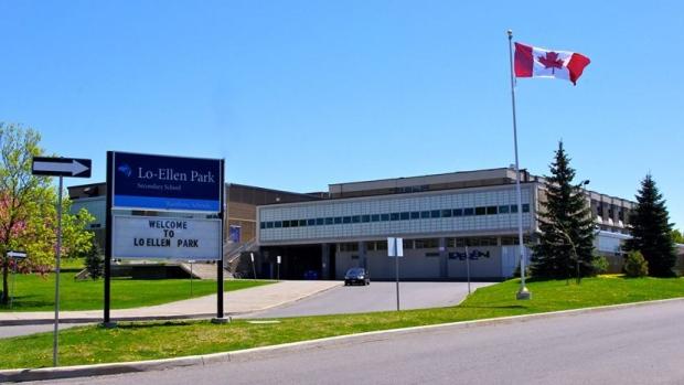 Lo-Ellen Park Secondary School, in Sudbury, Ont. (Rainbow District School Board)