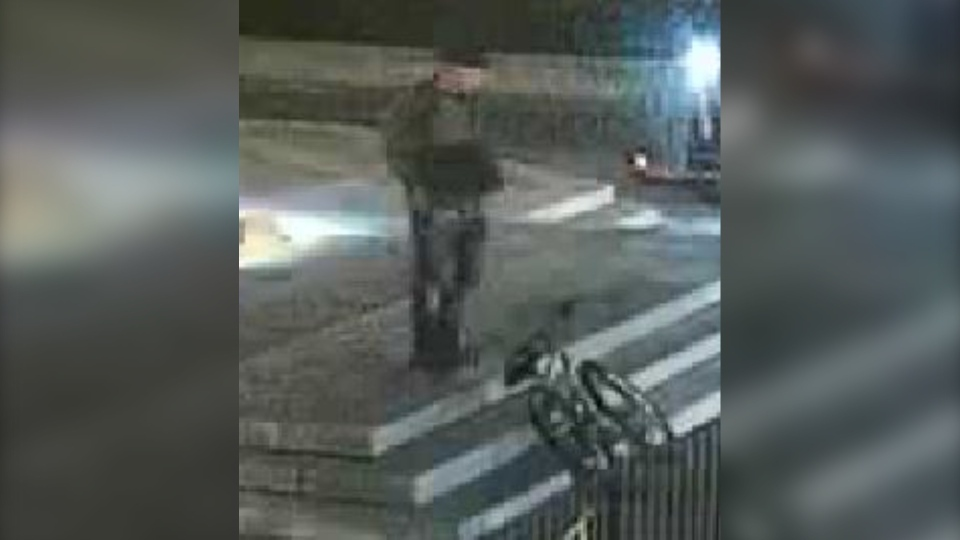 Ottawa police say this man carved hateful graffiti into the Tomb of the Unknown Soldier at the National War Memorial. (Ottawa Police)