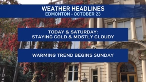 Oct. 23 weather headlines
