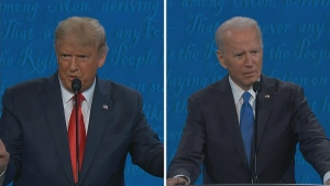 Less cross talk in second Trump and Biden debate