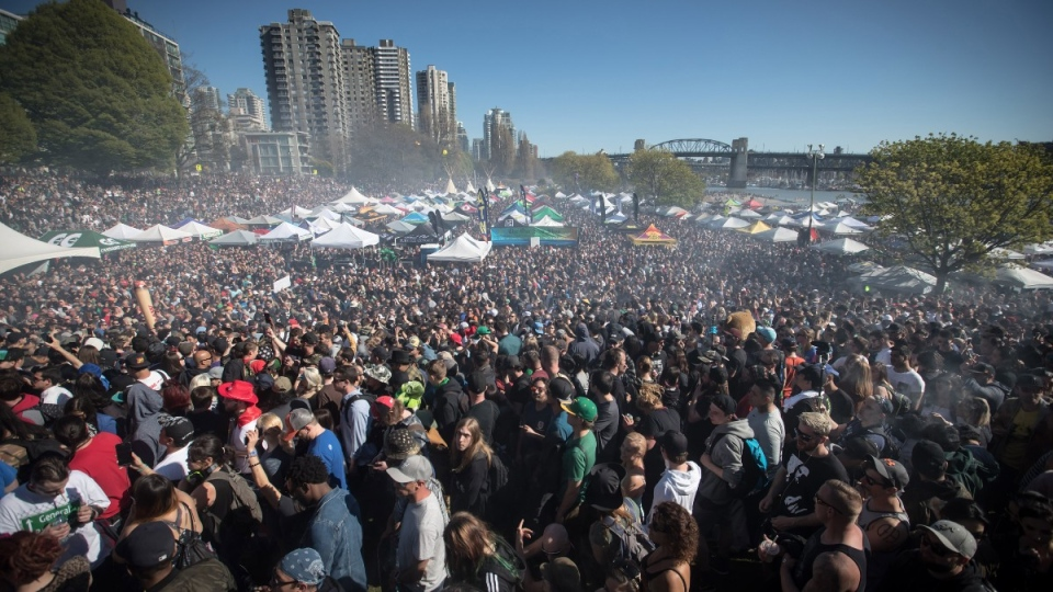 4-20 marijuana celebration in Vancouver