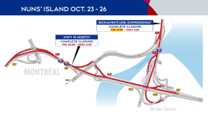 Nuns' Island closures Oct. 23-25