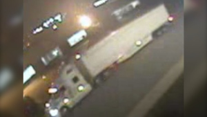 Montreal police say this truck was involved in hit-and-run
