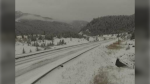 Larson Hill on the Coquihalla. (DriveBC highway camera)