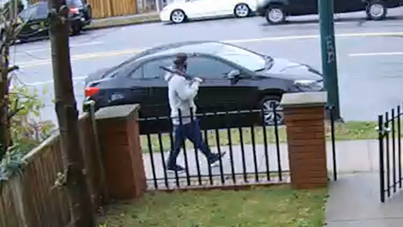 Vancouver police released surveillance footage of a suspect allegedly involved in two recent sexual assaults. (Vancouver police handout)