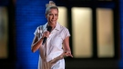 Chelsea Handler during her comedy special 'Chelsea Handler: Evolution,' streaming now. (HBO Max via AP)