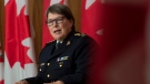 RCMP Commissioner Brenda Lucki speaks during a news conference in Ottawa, Wednesday October 21, 2020. THE CANADIAN PRESS/Adrian Wyld