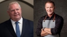 Doug Ford (left) and Mark McEwan (right) are seen in this composite image. (The Canadian Press and Twitter)