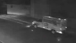 Police say this U-Haul truck was seen at a business in Guelph-Eramosa Township around the time suspects stole copper wire (Supplied: OPP)