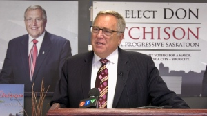 Don Atchison addresses reporters at a news conference on Oct. 23, 2020. (Laura Woodward/CTV News)