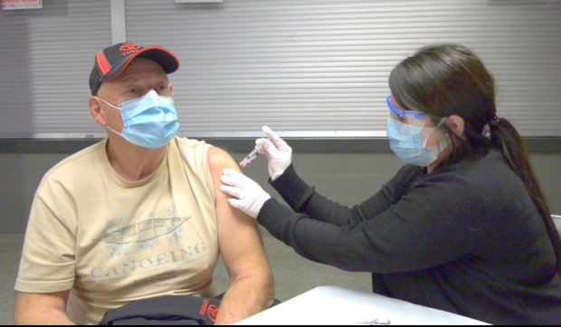 Local health officials say the GFL Memorial Gardens is the perfect place to host a flu clinic during the COVID-19 pandemic. (Jairus Patterson/CTV News)