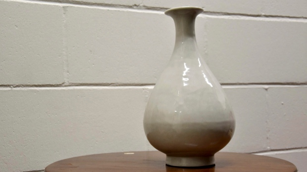 This undated photo provided by the Metropolitan Police shows a stolen 15th century Chinese Ming Dynasty vase that was recovered by the Metropolitan Police during a Specialist Crime operation. (Metropolitan Police via AP)