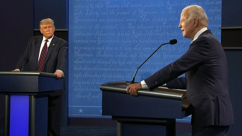 Donald Trump and Joe Biden debate
