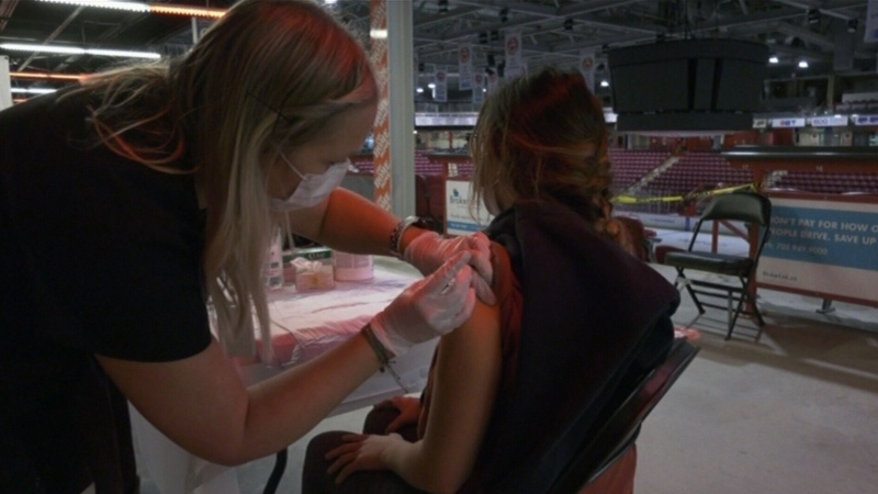 Sault arena hosts flu shot clinic