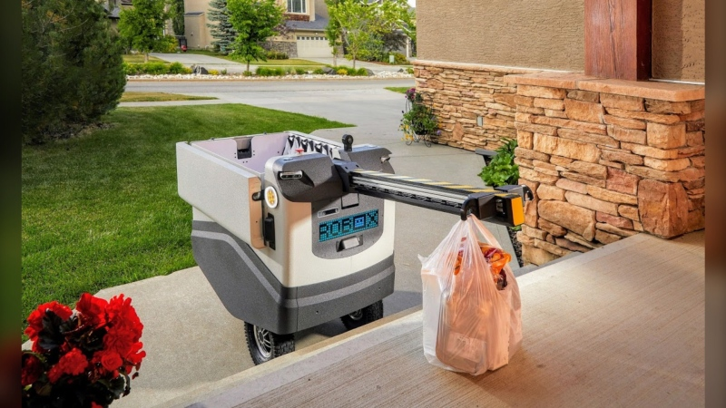Calgary startup Dianomix has focused its efforts to bring local goods to your door with the use of robotics. (Supplied)