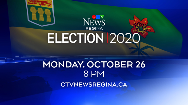 Tune in to CTV News Regina at 8 p.m. Monday, Oct. 26, for special coverage of the Saskatchewan 2020 general election.