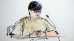 This courtroom sketch shows Enrique Marquez Jr, in federal court in Riverside, Calif.  (Bill Robles via AP, File)