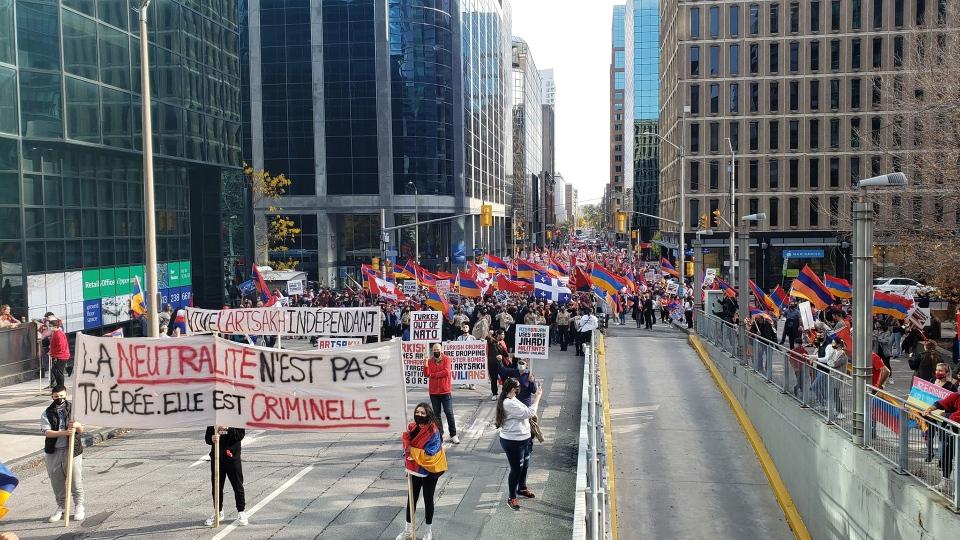 Armenian-Canadians protest, Ottawa