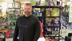 Chris Malmberg, co-owner Momms Premium Pet Foods, is helping veterans with pets.