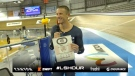 Windsor-native Lionel Sanders is recognized after setting a new Canadian cycling record for longest distance cycled in 60 minutes after pedalling 51.304 kilometres at Milton's Mattamy National Cycling Centre on Friday, October 23, 2020. (Courtesy Lionel Sanders/YouTube).