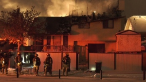 The CFD called a second alarm when they arrived at the scene of a house fire Friday night.