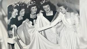 Second World War parachute made into wedding dress