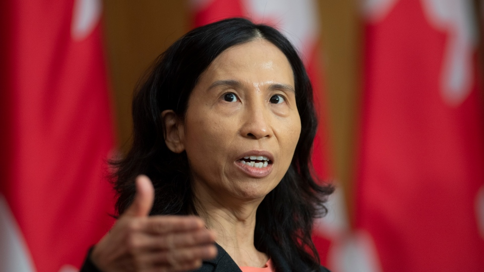 Canada's Chief Public Health Officer Theresa Tam responds to a question during a news conference Friday October 23, 2020 in Ottawa. THE CANADIAN PRESS/Adrian Wyld