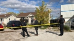 Police investigation underway in the 2900 block of Walker Road. (Gord Bacon/AM800)
