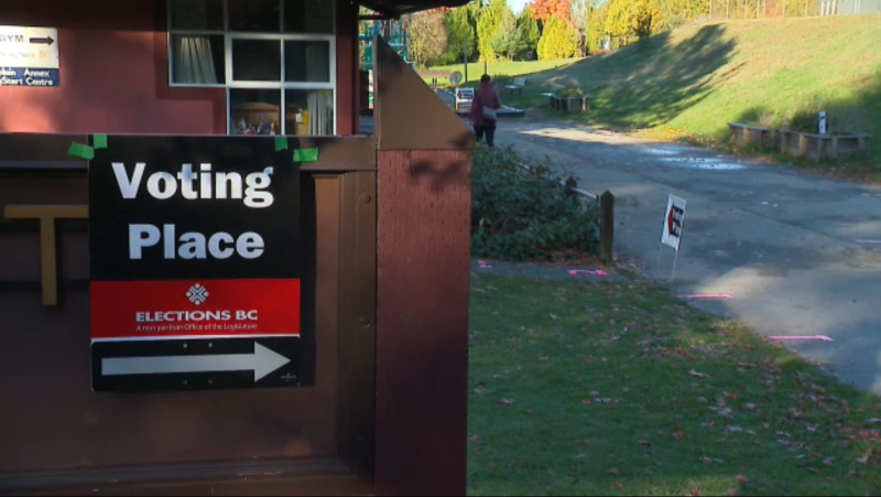 A polling place in the City of Vancouver is shown on election day, Oct. 24, 2020. (CTV)