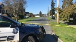 "Police evacuated some homes in a Vancouver Island neighbourhood after the discovery of an ""antique incendiary device"" Saturday morning. (CTV)"