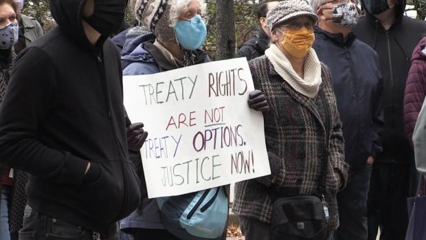 Rally supporting N.S. Indigenous fishers held in Saint John, N.B.
