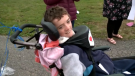 Hundreds of people turned out to wish a happy 12th birthday to Devon MacNeil of Whitney Pier, N.S..
