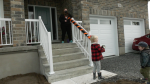 Candy chutes are being installed at homes in Kingston so trick-or-treaters have a safe Halloween. (Kimberley Johnson/CTV News Ottawa)