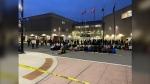 The Justice for Abdirahman coalition remembers Abdirahman Abdi outside Ottawa Police headquarters. (Josh Pringle/CTV News Ottawa)
