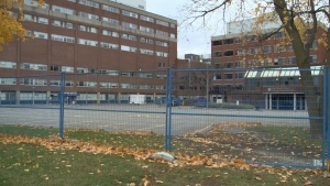 The Ottawa Hospital Civic Campus is building a 40-bed temporary unit in the parking lot. (Mike Mersereau/CTV News Ottawa)