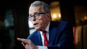 "Ohio Gov. Mike DeWine speaks about his plans for the coming year during an interview at the Governor's Residence in Columbus, Ohio, on Friday, Dec. 13, 2019. Speaking during a year-end interview at the Governor's Residence, the first-term Republican told The Associated Press that it's all part of his commitment to help every Ohioan reach their ""God-given potential."" (AP Photo/John Minchillo)"