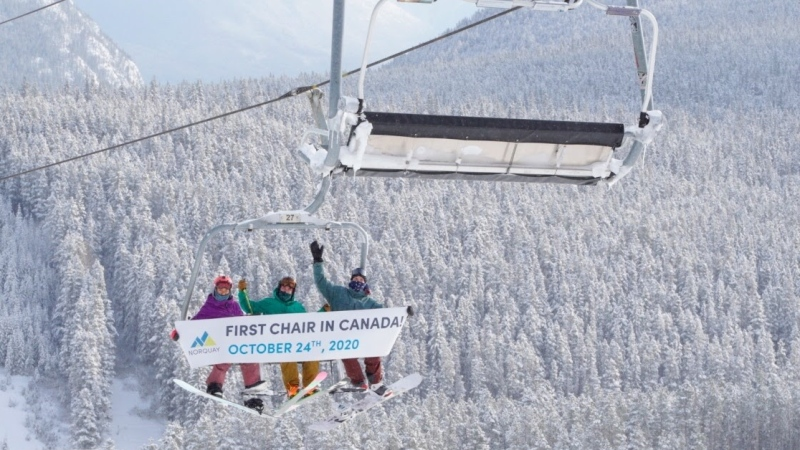 With added pandemic restrictions and early winter weather, Mount Norquay in Banff hosted its earliest ski season opening ever in its 95 years operating in the Rocky Mountains. (Credit: Norquay)