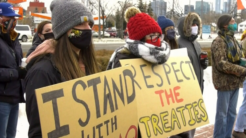 Protest to support the Mi'kmaq