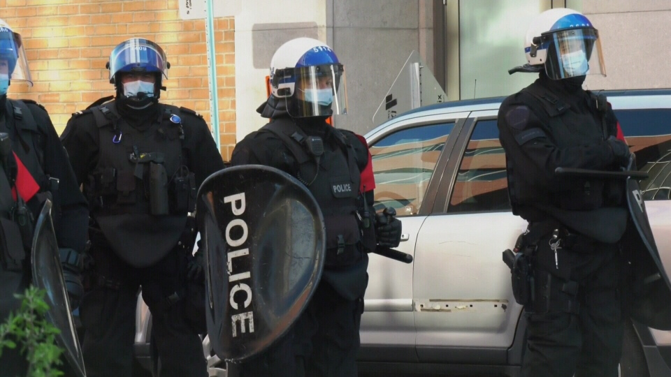 Defund the police march montreal