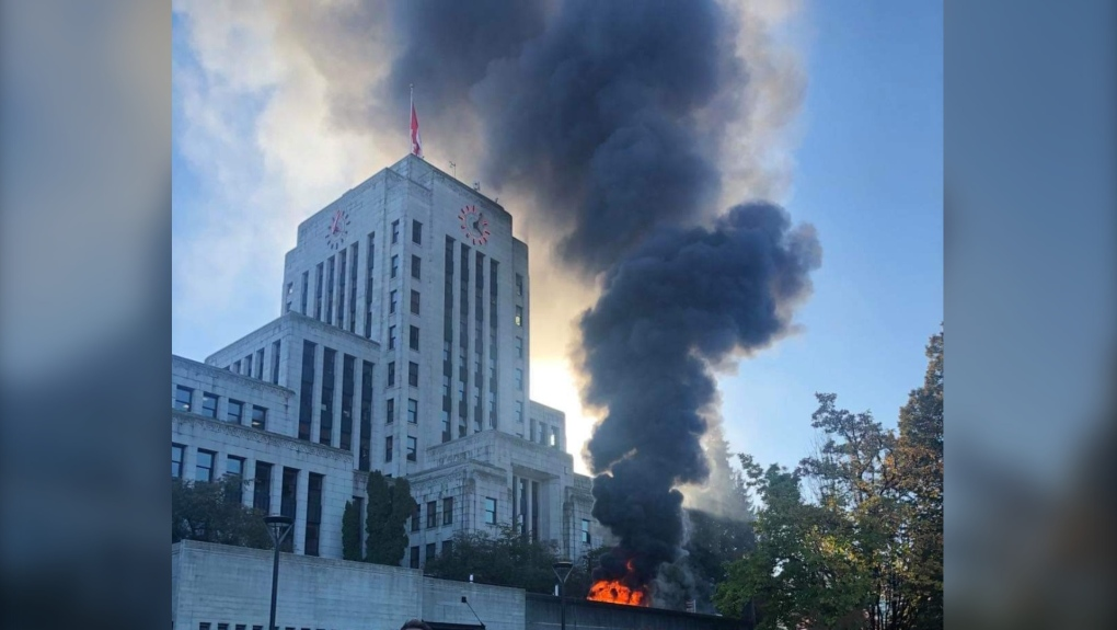 Vancouver City Hall fire