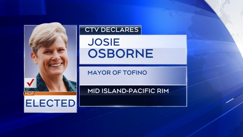 Josie Osborne has been elected MLA for the Mid Island-Pacific Rim party: (CTV News)