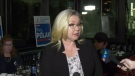 Mary Polak speaks after losing her seat in Langley.