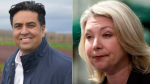 Liberal incumbents Jas Johal and Mary Polak both lost their seats in the 2020 B.C. election. (File photos)