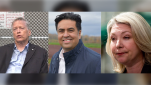 Liberal incumbents Jas Johal, Sam Sullivan and Mary Polak both lost their seats in the 2020 B.C. election. (File photos)